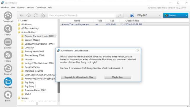 VDownloader for Windows 10 Screenshot 3