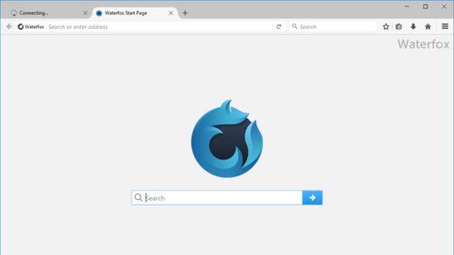 Waterfox for Windows 10 Screenshot 1