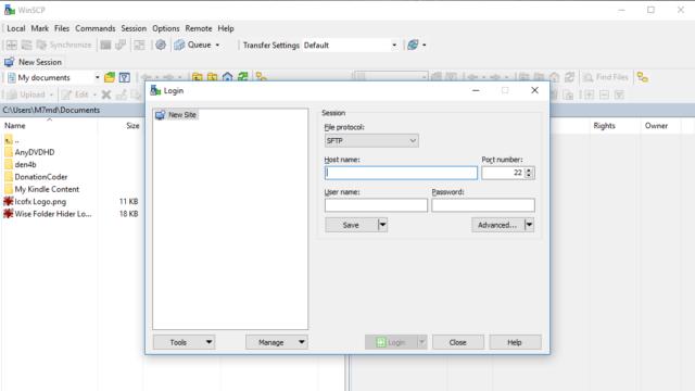 WinSCP for Windows 10 Screenshot 1