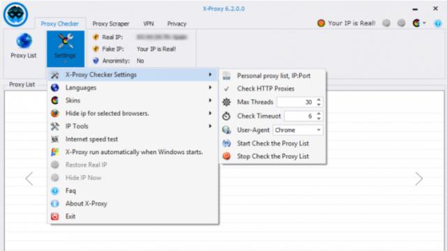 X-Proxy for Windows 10 Screenshot 1