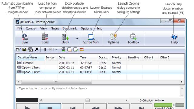 Express Scribe for Windows 10 Screenshot 1