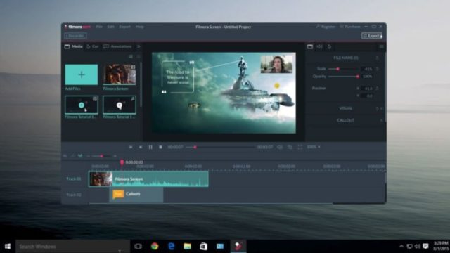 Filmora scrn for Windows 10 Screenshot 2