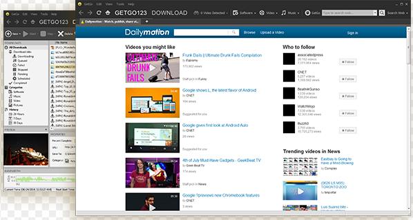 GetGo Download Manager for Windows 10 Screenshot 1
