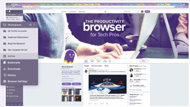 Ghost Browser for Windows 10 Screenshot 1