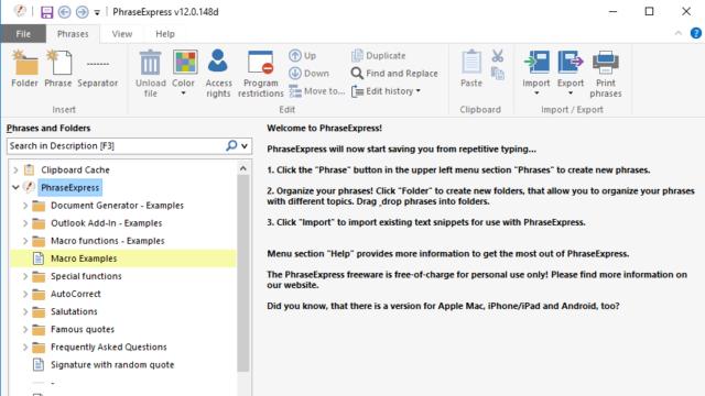 Download PhraseExpress (64/32 bit) for Windows 10 PC. Free