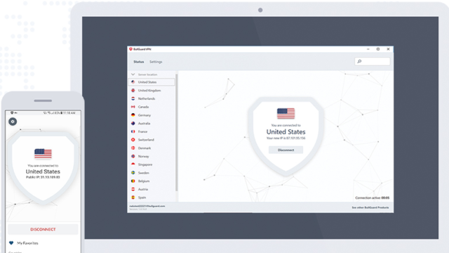 BullGuard VPN for Windows 10 Screenshot 1