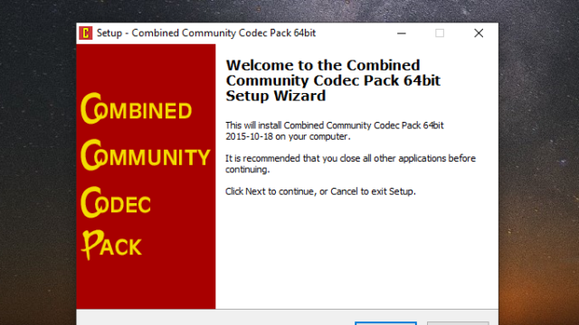Download Cccp Combined Community Codec Pack 64 32 Bit For Windows 10 Pc Free