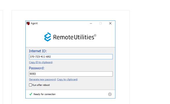 Remote Utilities Host for Windows 10 Screenshot 1