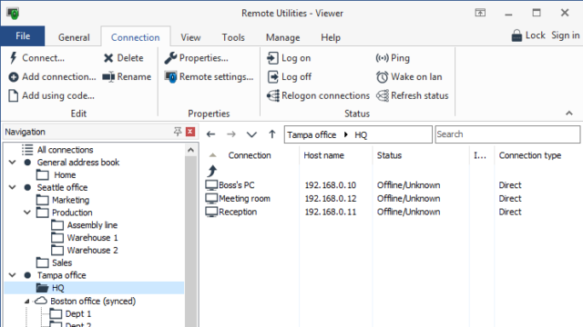Remote Utilities Viewer for Windows 10 Screenshot 2