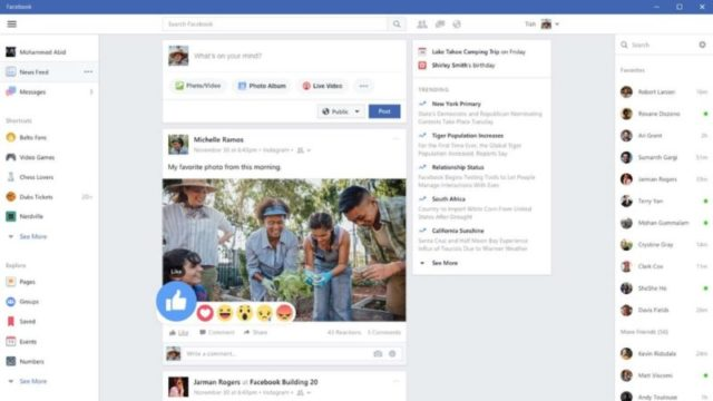 Facebook App for Windows 10 Screenshot 1