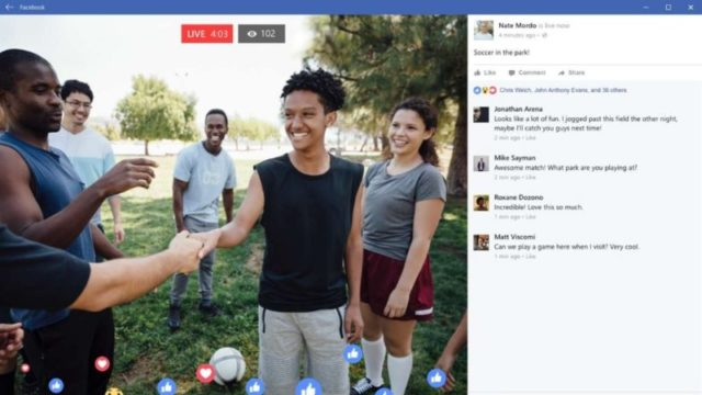 Facebook App for Windows 10 Screenshot 2