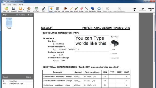 Win PDF Editor for Windows 10 Screenshot 1
