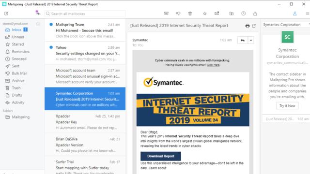 Mailspring for Windows 10 Screenshot 1
