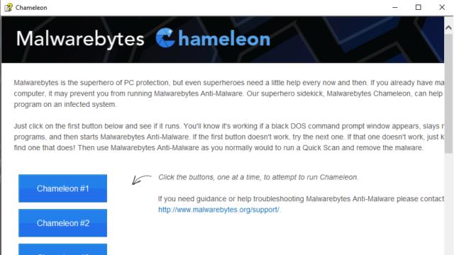 Malwarebytes Chameleon for Windows 10 Screenshot 1