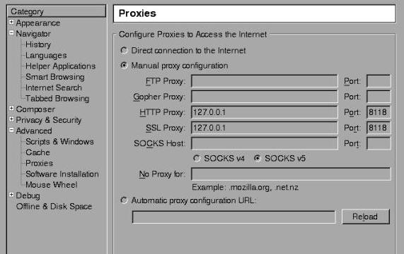 Privoxy for Windows 10 Screenshot 1