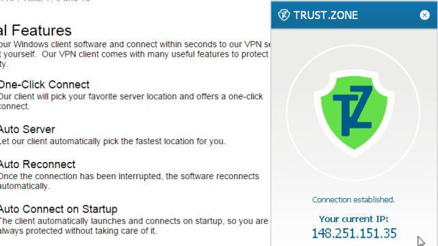Trust.Zone VPN for Windows 10 Screenshot 3