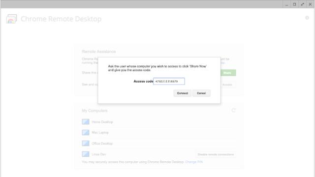 Chrome Remote Desktop for Windows 10 Screenshot 2