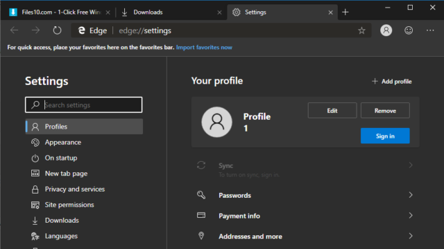 Microsoft Edge for Windows 10 Screenshot 3