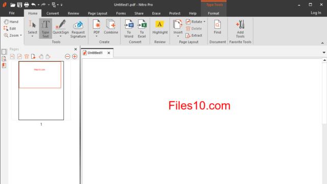 Nitro Pro for Windows 10 Screenshot 1
