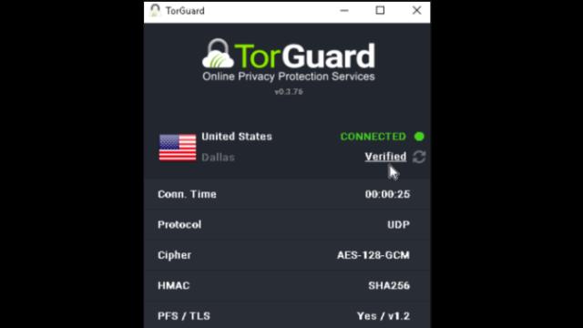 TorGuard VPN for Windows 10 Screenshot 1