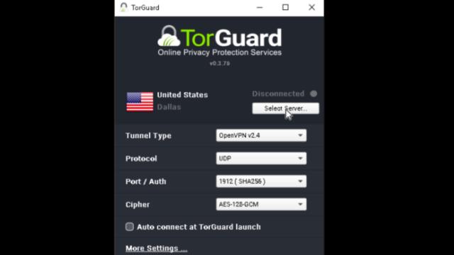 TorGuard VPN for Windows 10 Screenshot 2