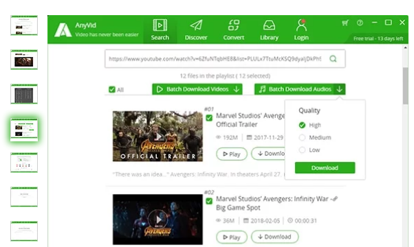 AnyVid for Windows 10 Screenshot 3