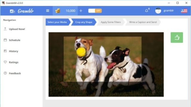 Gramblr for Windows 10 Screenshot 2