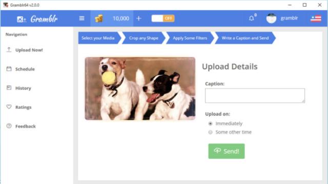 Gramblr for Windows 10 Screenshot 3