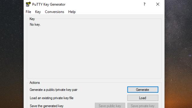 PuTTYgen for Windows 10 Screenshot 1
