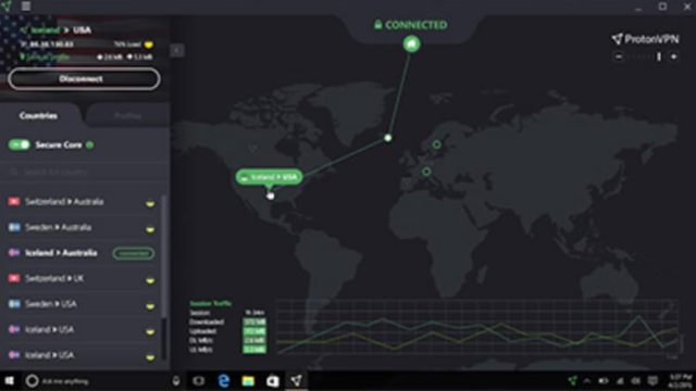 ProtonVPN for Windows 10 Screenshot 1