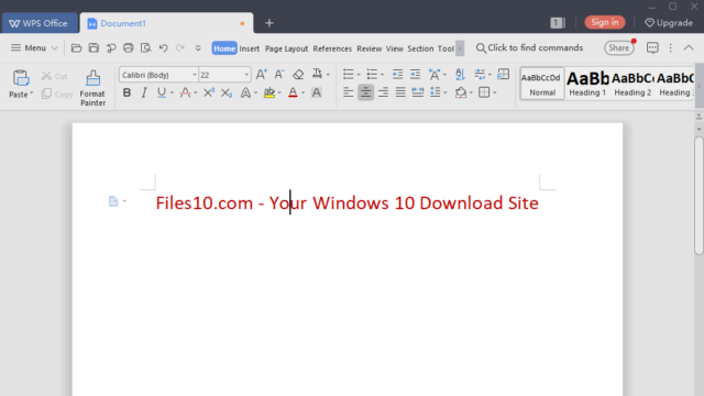 WPS Office for Windows 10 Screenshot 1