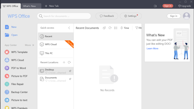WPS Office for Windows 10 Screenshot 2