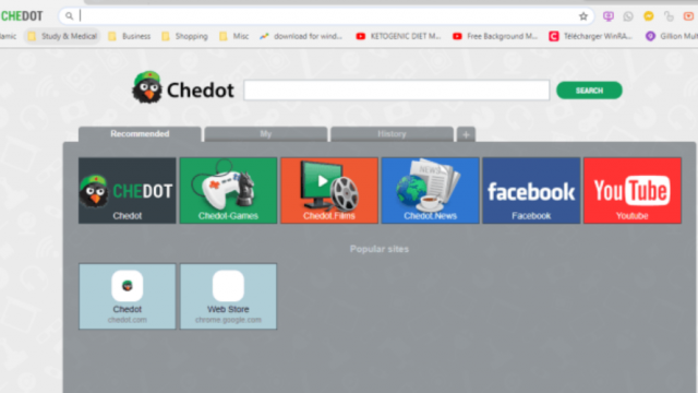 Chedot Browser for Windows 10 Screenshot 1